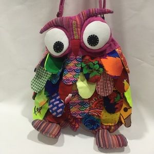 Patchwork Arty Owl Bag Small Cross Body Strap